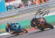 Jack Miller mano firmado 12x8 Foto Red Bull KTM Ajo Moto 3, MotoGP 6.