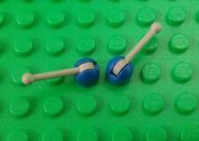 *NEW* Lego Blue Base Rare Grey Gear Levers Control Sticks Antennas - 2 pieces