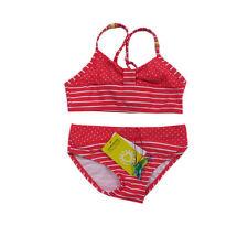 Kanz Bademode Zweiteiler Bikini Mädchen Kinder Rot Weiß Gr.116,122,128,140,152