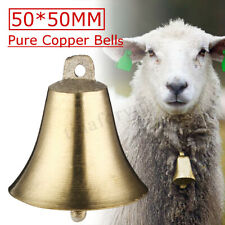 2PCS Brass Copper Bells Cow Horse Sheep Dog Animal Grazing Super Cattle