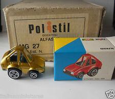 Alfa Romeo Alfasud Oro Coche Divertido Caricatura Polistil 1976 1/55 MG27