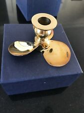 Brass Candlestick propeller style high polished In gift box Price Dropped Again