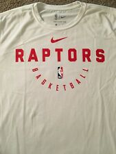 Nike Toronto Raptors White Long Sleeve Team Issued Practice Shirt Size XL NWT