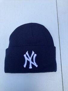 Vintage 90s New York Yankees Adult  Navy Blue Winter Skiing Sock Hat