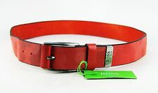 Hugo Boss Green Label Tamorty Textured Leather Belt Size 34 New Italy # 17
