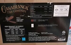 """Casablanca 59505 Tribeca 60"""" 3 Blade Ceiling Fan Graphite . Used for display"""
