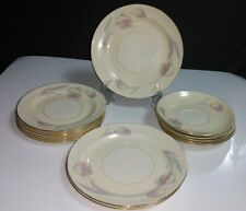14 Pc Homer Laughlin Eggshell Nautilus TULIP- 5 Saucers, 6 B&B, 3 Salad Plates