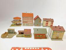 AS14-2# 8x Faller/Kibri etc H0 Modelle: Tankstelle+MFH/Mehrfamilienhaus etc