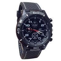 Men Military Army Black Analog Digital Quartz Leather Wrist Watch SOKI GT