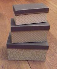 Beautiful 3 Empty Gift Box Set Perfect as a Stylish Gift Wrap New No Tags