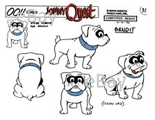 JONNY QUEST MODEL SHEET PRINT Hanna Barbera - BANDIT b