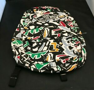 Vans Off the Wall Realm Backpack (White / Green / Yellow / Blue) New With Tags
