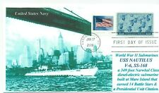 USS NAUTILUS SS-168 WW II Submarine, 14 Battle Stars  Photo First Day of Issue