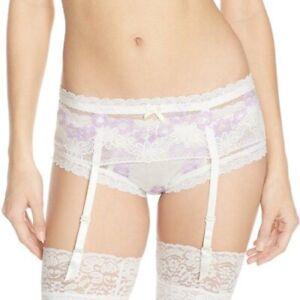 Hanky Panky Bridal Garter Belt Size Medium - NWT - Ivory & Lavender
