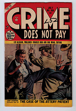 CRIME DOES NOT PAY #100 5.0 PAINTED COVER 1951 CREAM/OFF-WHITE PAGES