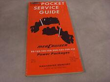 New 1969 Mercruiser Pocket Service Guide 90-52347 80-120-140-160-200 MORE  4-2-1