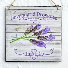 Wall hanging plaque/picture Vintage French Provence Lavender Flower Sign