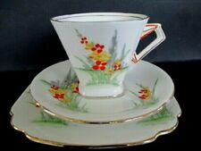 Art Deco / Vintage China Tea Set Trio.Standard China,Cromer Shape.Hand Painted.