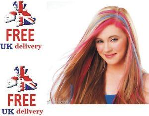3pcs Hot Huez Hues Non-toxic Temporary Hair Chalk Dye Soft Pastels Salon Kit