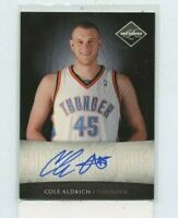 COLE ALDRICH 2010-11 Panini Limited Next Day Rookie Auto Autograph #D /99