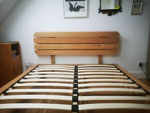 John Lewis Oak Bed King Size with drawers