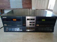 AKAI 2-SPEED HX-M313W Double Cassette Player