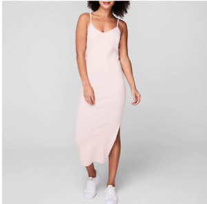 Firetrap V Neck Rib Dress Ladies Blush Lightweight Spaghetti Straps Size 8  BNWT