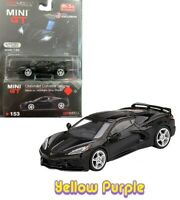 TSM 1:64 MINI GT 2020 Chevrolet Corvette Stingray Gray Stripe C8 Black MGT00153