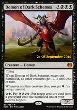 MTG DEMON OF DARK SCHEMES FOIL PROMO EXC DEMONE DALLE TRAME OSCURE