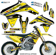 2007 2008 2009 RMZ 250 GRAPHICS KIT SUZUKI RMZ250 07 08 09 DECO DECALS STICKERS