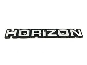 1985-1989 PLYMOUTH HORIZON REAR TRUNK LID OEM EMBLEM BADGE SYMBOL LOGO (1987)