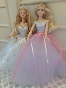 2001 Holiday Celebrations & 2016 Birthday Wishes Barbie Dolls Collection Mattel