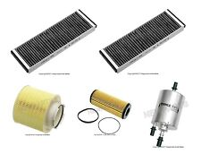 Audi A6 06-11 V6 Mahle Engine Oil Fuel Cabin Air Filters Tune Up Kit