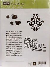 Stampin Up DARING ADVENTURE clear mount stamps NEW text background shoe prints