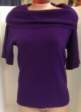 Henri Bendel Sweater Purple Cowl Neck Size Small