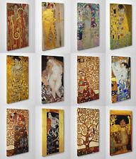 🌹 Quadro Klimt Stampa su Tela Pronto da Appendere Vernice Effetto Pennellate 🖌