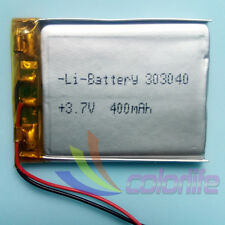 3.7V 400mAh 303040 Li-Polymer Rechargeable Battery LiPo For Mp3 Bluetooth GPS