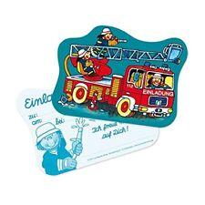 Benny Brandmeister Einladungskarten Feuerwehr Kindergeburtstag Jungen Party Deko