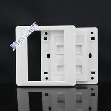 Wall Socket Plate 3 Ports CAT5e Cat5 Network LAN +One  RJ11 Tel  Panel Faceplate