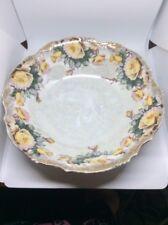Vintage 8 Inch Iridescent Serving Bowl