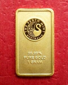 Perth Mint Kangaroo 1g Gold Bar 99.99% Pure Gold Bullion Express Post