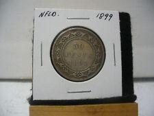 1899  CANADA  SILVER  HALF  DOLLAR  50 CENT PIECE   99  NEWFOUNDLAND  STERLING