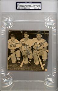 Dom DiMaggio, Stephens & Doerr Autographed Magazine Page Photo PSA 83964215