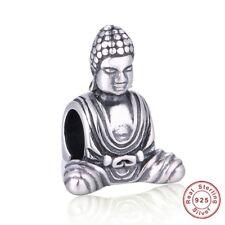 BUDDHA BUDDHISM Genuine 925 Sterling Silver Charm Bead Fits European Bracelet