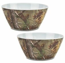 DII Real Tree Camo Melamine Serving Bowl, 10-Inch, Set of 2 Kitchen Camouflage