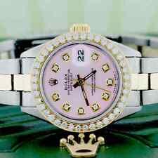 Rolex Datejust Ladies 2-Tone 18K Gold/Steel 26MM Oyster w/Diamond Dial & Bezel