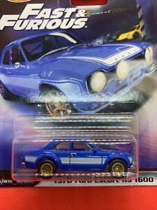 HOT WHEELS Premium Fast Imports 1970 FORD ESCORT RS 1600 REAL RIDERS F&F 5/5