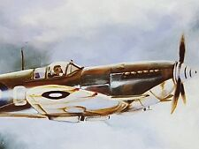 Spitfire Aviation Limited Edition Aviation Print, Ace of Spades