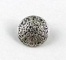 30PCS Tibetan silver ornate round button beads