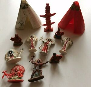 Vintage Plastic WILD WEST INDIAN CAMP: Charbens/Trojan etc. (Made in England)